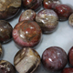 Wholesale Natural Silicified Wood Mineral Crystal Red Wood Fossil Sphere Ball