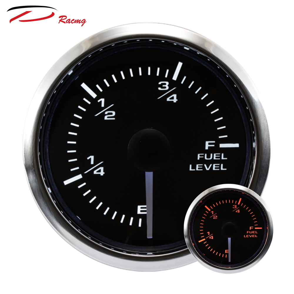 """2/"""" 52mm Waterproof Protection Whit Water Tank Level Gauge for Boat White"""
