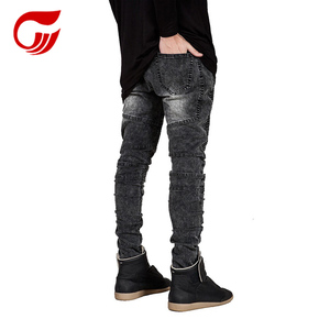 2018 new fashion wholesale cheap bike jeans pants for boys