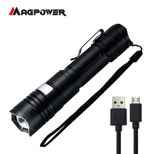 Lampe <span class=keywords><strong>torche</strong></span> rechargeable usb à led de police. 18650 lampe <span class=keywords><strong>torche</strong></span> Zoomable