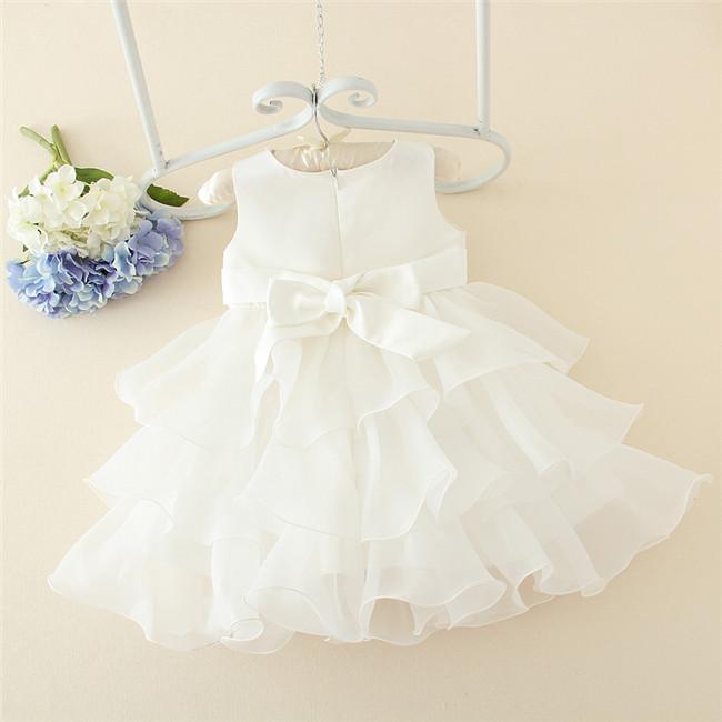 566b16531 White baby princess dress 3 year old girl tutu baby girls party dress design  for 1 year old party dress