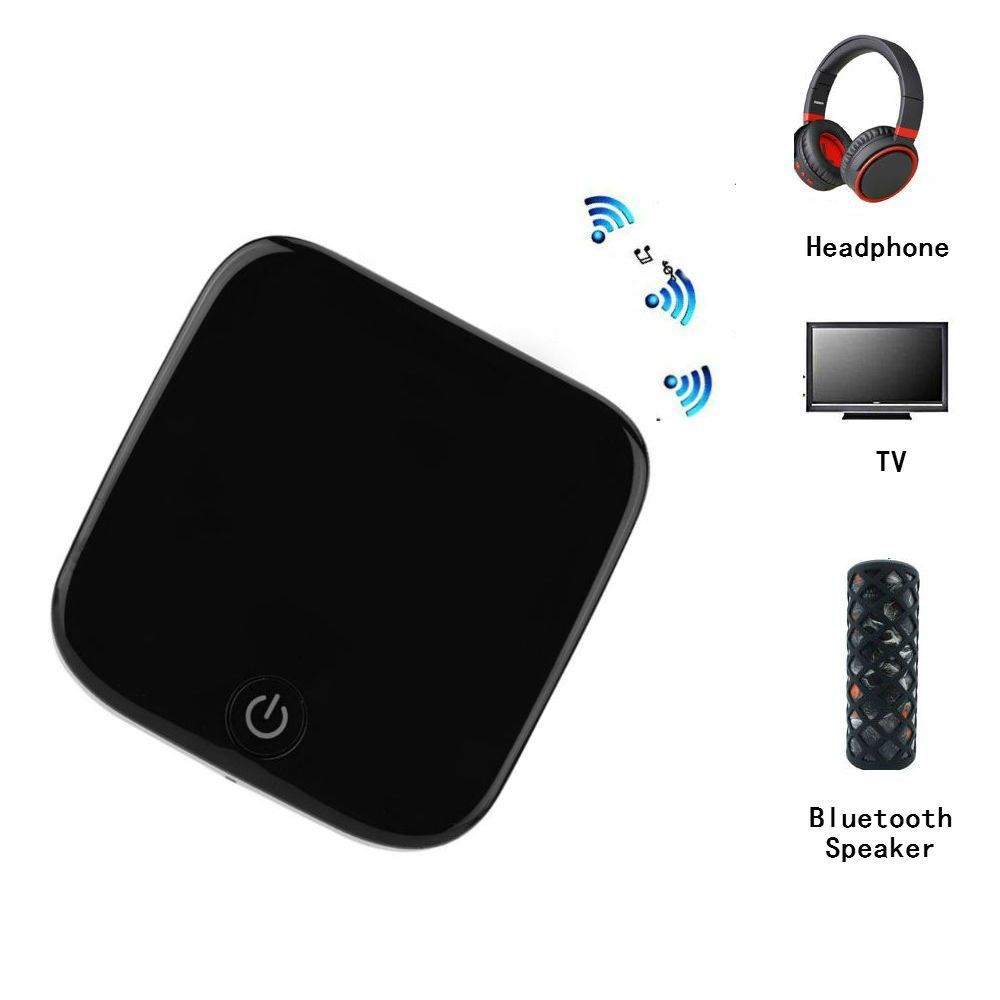 Hangang Bluetooth 4.1 Transmitter,Bluetooth Receiver, Digital Optical TOSLINK and 3.5mm Wireless Audio Adapter for TV Home and Car Stereo System, can pair with two headphones/speakers| BTI-029