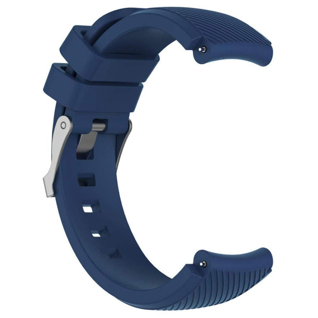 Owill Replacement Soft Silicagel Sports Watch Band Strap For Huami Amazfit Stratos Smart Watch 2, Band Length: 210mm (Navy)