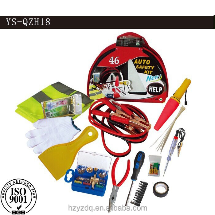 YS-QZH18 car emergency tool with fuses wire,Car Emergency Tool Kit,auto emergency safety tool kitvehicle emergency safety tool