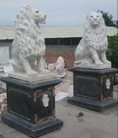 white marble lion statues/antique marble statues for sale