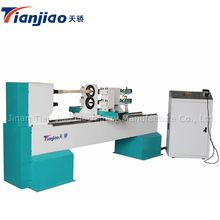 Tianjiao 1516 Cnc Wood Lathe Single Axis Double Tools With Sliding And Cutting Wood Turning Lathe