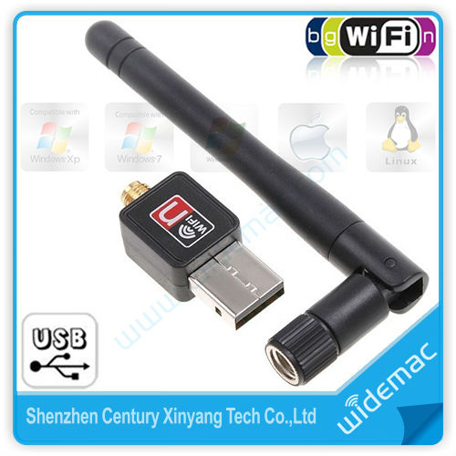 802.11n//g//b 150Mbps Mini USB WiFi Wireless Adapter Network LAN Card with Antenna