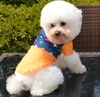 Hot Selling Cute Pet Clothes Dog Clothing Cowboy Shirt Stitching Cloth