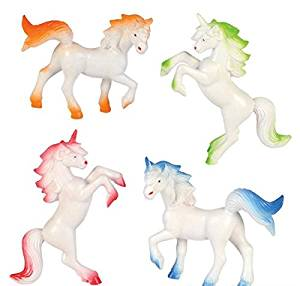 """Hands On Learning 3"""" Enchanted Unicorns - Vinyl Unicorn Toys, 1 Dozen, Assorted Colored Unicorn Toy Figures, For Kids, Parties, Toys, and Gifts"""