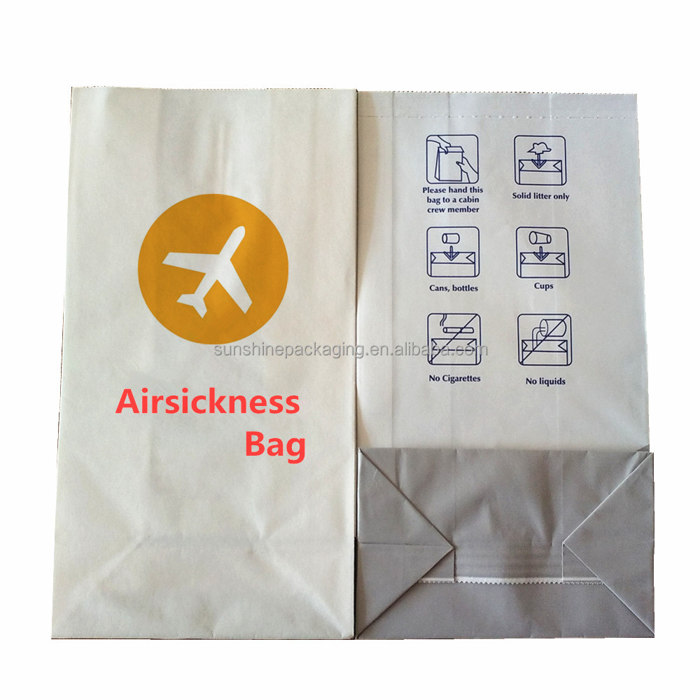Hot sale airplane vomit waste paper bag