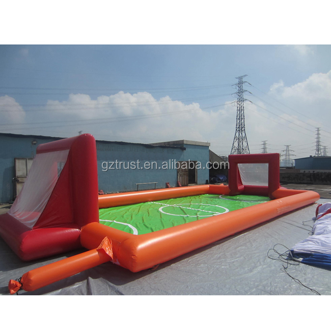 2019 Interesting Football Pitch Inflatable Sport Games Soap Soccer Football Field