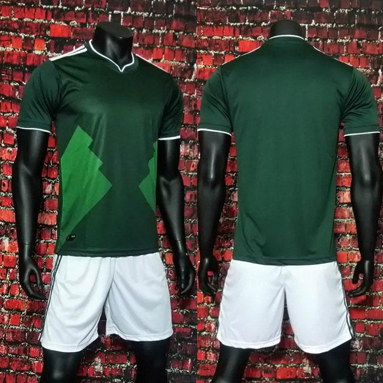 Silonprince Factory wholesale customize cheap green football uniforms shirt marker soccer jersey