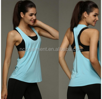 c5d38d59a2962 Wholesale Summer Sexy Women Tank Tops Dry Quick Loose Gym Fitness Sport  Sleeveless Vest Singlet for