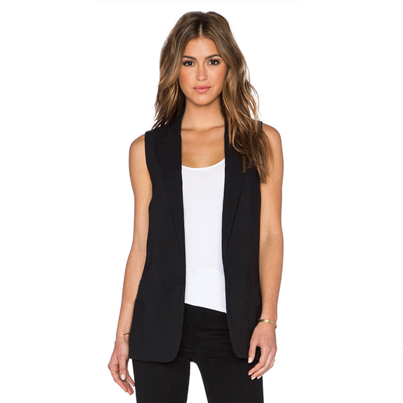 This long chiffon vest can be tied a number of ways to create a completely different look. When styling this long vest, women tie it high, tie it low or let it hang loose. A variety of pattern and animal print vests are available, including leopard print, as well as a number of solid colors.