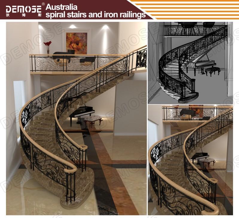 Outdoor Duplex House Spiral Stairs