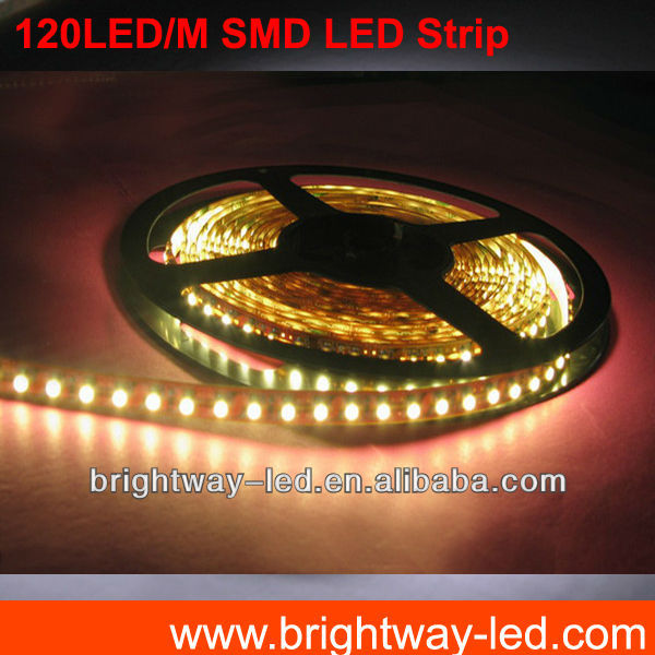 Factory direct sale 12mm 19.2w/m 3528 blue led strip 12v/ 24vdc magnetic light