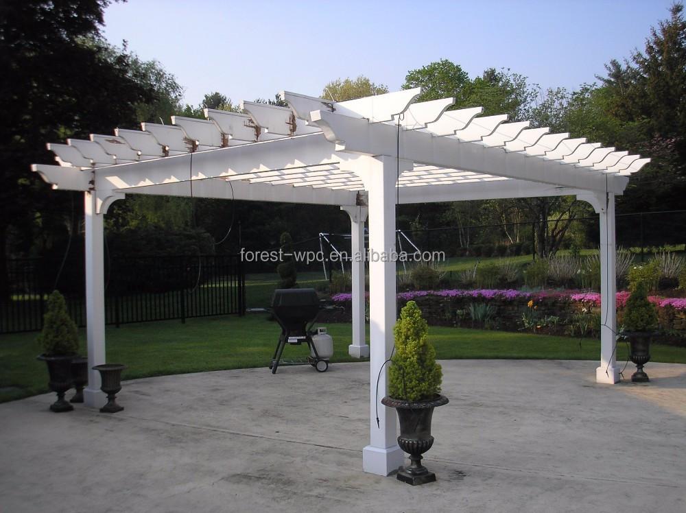Comfortabele mooie wpc outdoor tuin pergola pergola voor recreatie tuin metalen meubelen bogen - Bedekking voor pergola ...