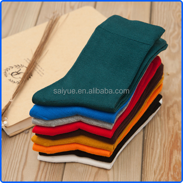 High quality solid color mens bamboo socks