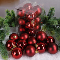 Wholesale Popular Customized Red Clear Glass Christmas Balls Hanging Christmas Ornaments