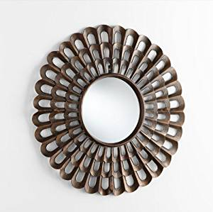 Buy Bronze Metal Sunburst Wall Mirror Round Modern Frame Large 40 In Cheap Price On Alibaba Com