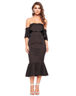 2019 Asymmetric Ruffle Off Shoulder Sexy Evening Dress For Women Party Dress