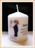 personalised wedding thank you candle gift keepsake
