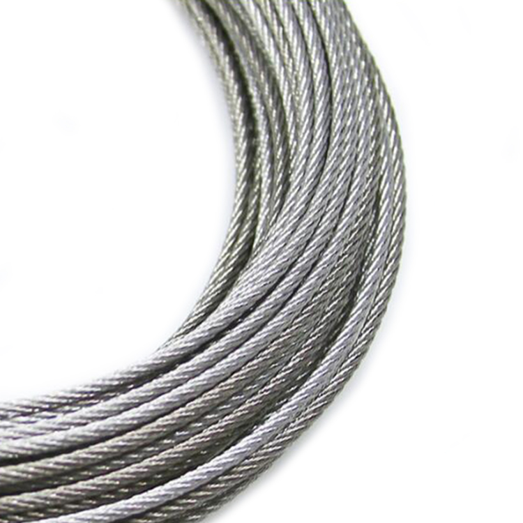 High carbon 316 Grades Stainless Steel Wire Rope Cable for Elevator and Lift