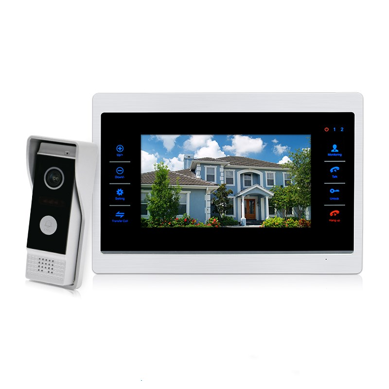 with motion detection and good night vision for smart home 10 inch video intercom