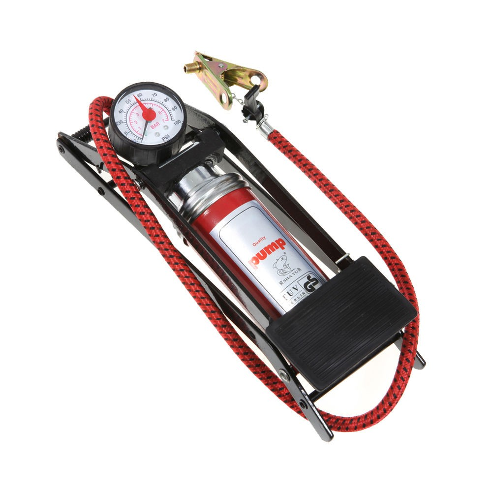 Foot Air Pump NEW Inflates up to 100psi Inflate Vehicle Tires//Bicycle//Bike//Balls