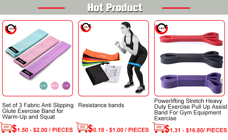 Anti-Rutsch-Physiotherapie und Stretching Fitness Bands Bulk Elastic Band