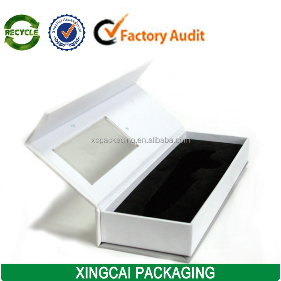 Free Sample Magnetic Closure Hair Extension Boxes Packaging With ...