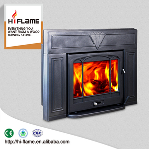 China supplier HiFlame home product wood long burning stove insert HF577IU3