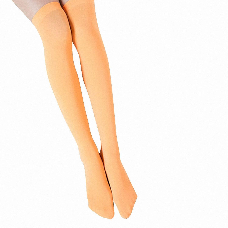 2bfe28d4ea559 Get Quotations · Drawingo Women Fashion 10Pairs Over Knee Socks High  Temptation Stretch Nylon Cute Stockings Sweet Velvet High
