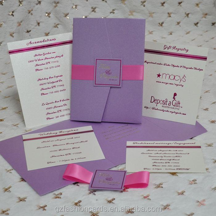 2015 New Design Wedding Custom Invitation Envelope - Buy Custom ...