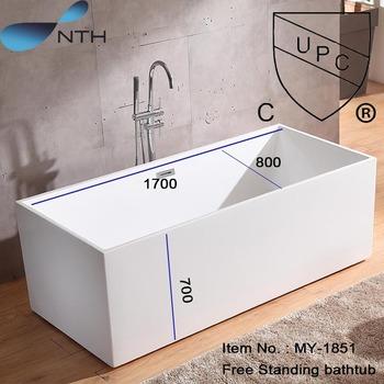 Acrylic Bath Shower Combo Oval Indoor Freestanding Bathtub