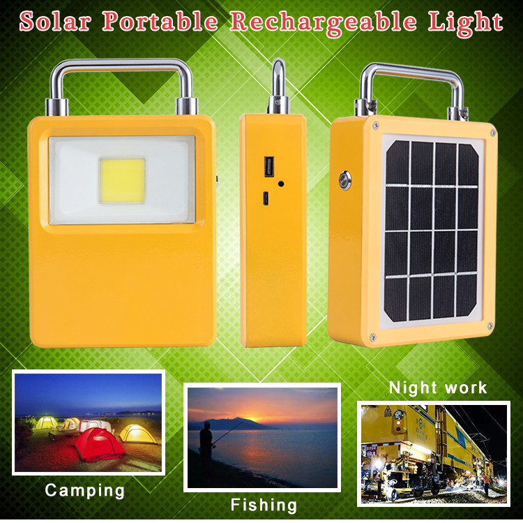 rechargeable portable solar led flood light