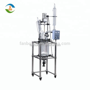 10L Factory Price Lab Jacketed Glass Reactor