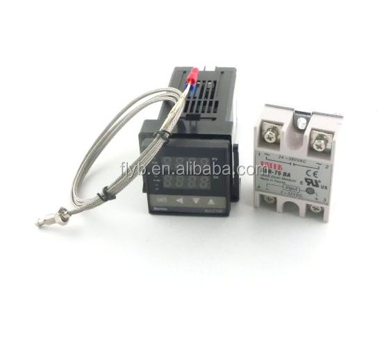 Feilong Dual Digital FL PID xmt-3421 Solid State Relay SSR40DA Temperature Controller with thermocoK, SSR Output