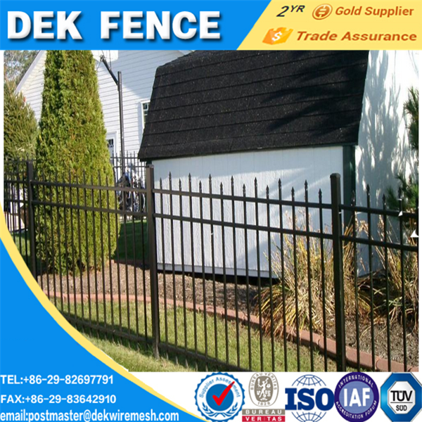 Galvanized pvc coated ornament/adorn wrought iron fence panels