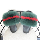 slide sandals 2018 luxury collection women real fur fox fur slippers winter fashion
