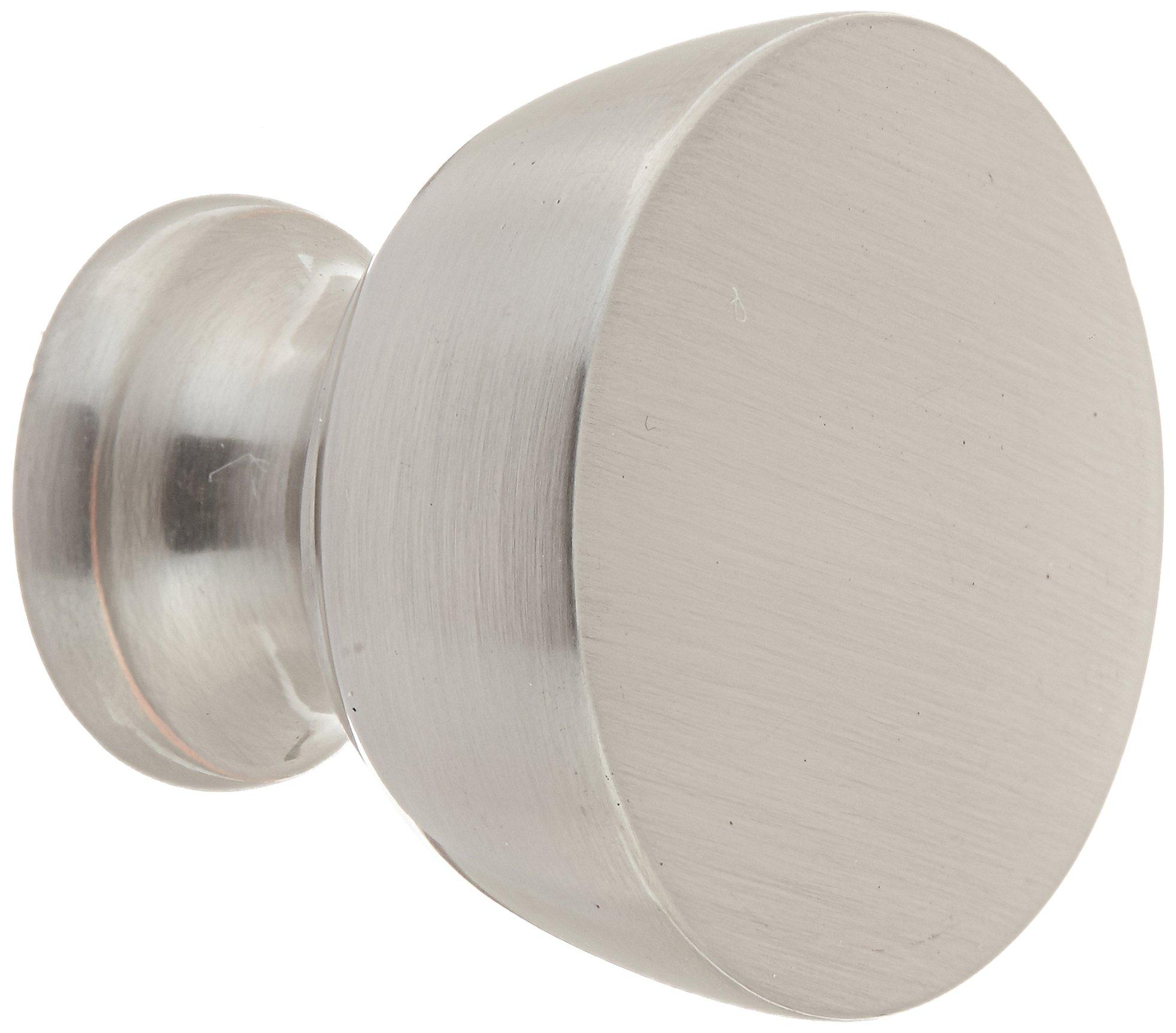Southern Hills Brushed Nickel Cabinet Knobs - Pack of 5 -Satin Nickel Drawer Pulls - Round - Pack of 5 - Kitchen Hardware SHKM013-SN-5