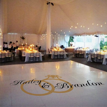 Graphics floor stickers removable customized wedding dance floor decal
