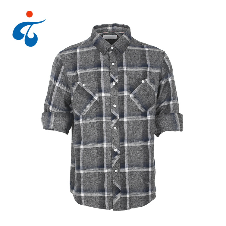 New fashionable custom made soft casual heavy flannel shirt