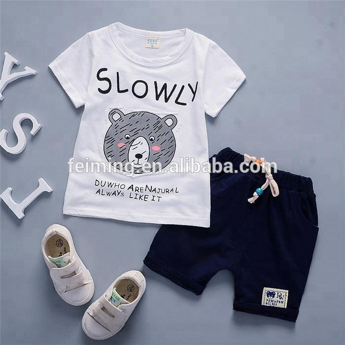 Ensemble vêtements boutique pour enfants   Vêtements de sport, tenue d'été 2 pièces, pour bébés garçons, dernière conception, ensemble