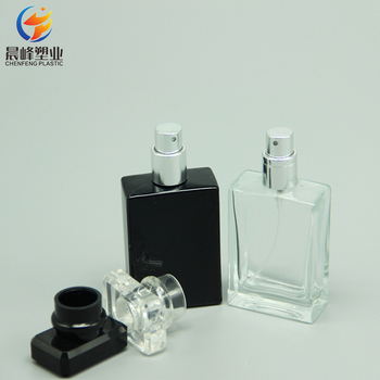 Aluminium material screw refillable perfume spray clear glass bottle