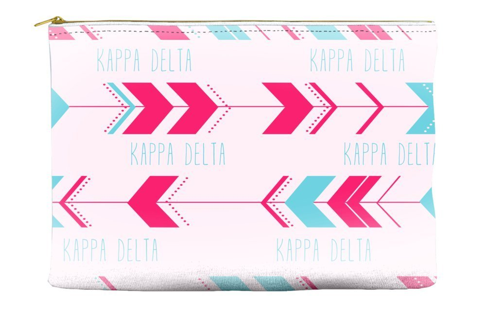Kappa Delta Arrow Pattern Pink Blue Cosmetic Accessory Pouch Bag for Makeup Jewelry & other Essentials