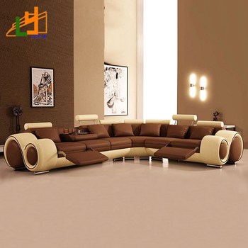 Alibaba Modern Design Genuine Leather European Style L Or U Shaped Sofa Luxury Sectional Furniture Living