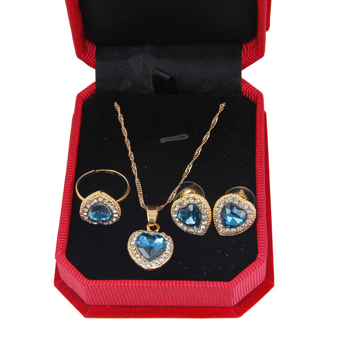 Kalung Cincin Set Rhodium Disepuh Rainbow Api Mystic Topaz Perhiasan 1