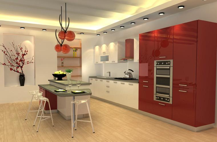 Oppein Laca Gabinetes De Cocina Modular Americano Diseños - Buy ...