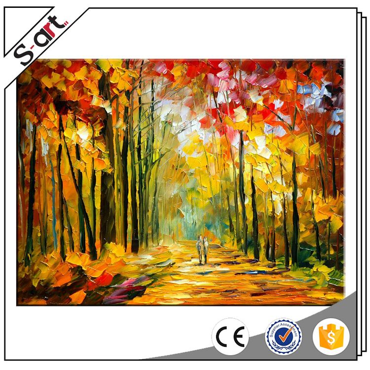 Artist designed excellent performance wall art oil paintings by palette knife